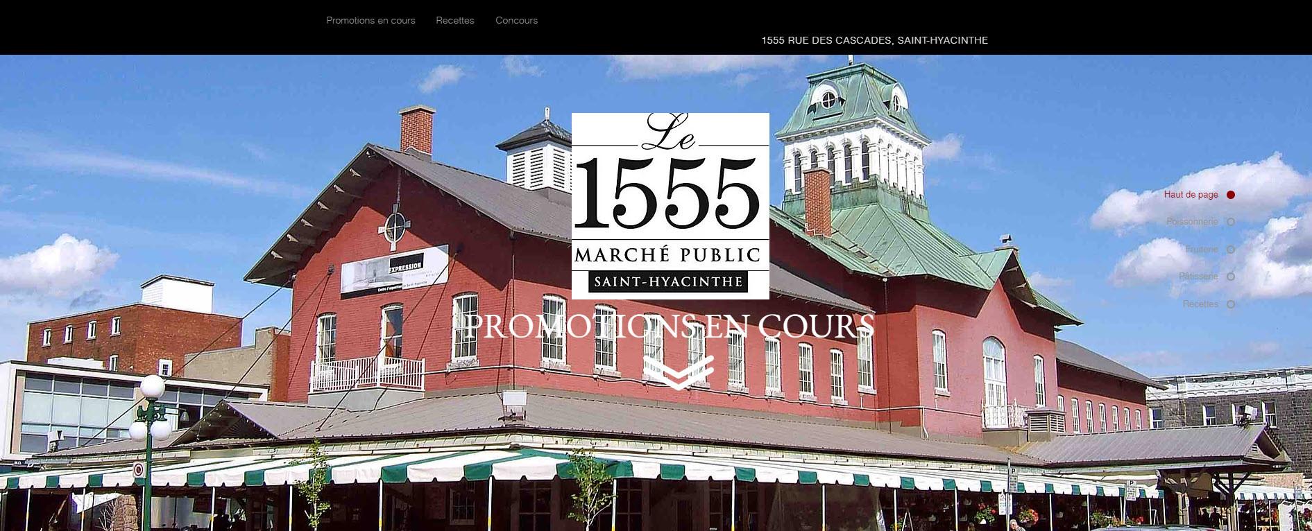 Landing 1555 Marché Public Saint-Hyacinthe