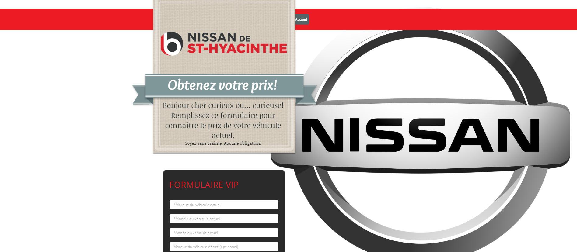 Landing. Nissan de Saint-Hyacinthe