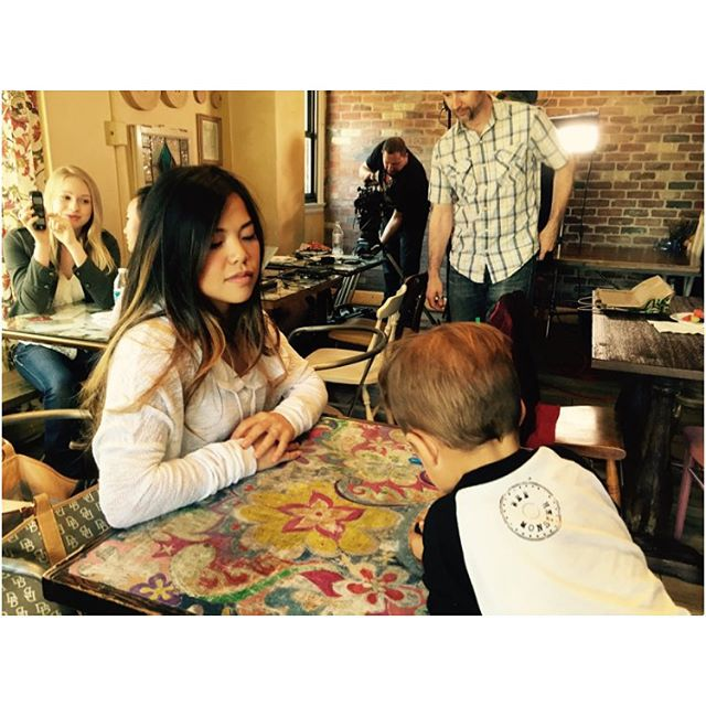 Filming with my boo 💗🎥 #film #webseries #seattle #actor #actress #mom #son #love #fun