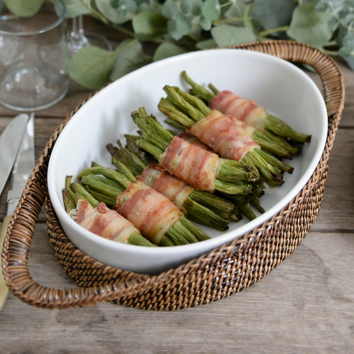 Bacon wrapped green beans (2 lbs)