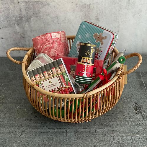 Christmas Tree Themed Basket