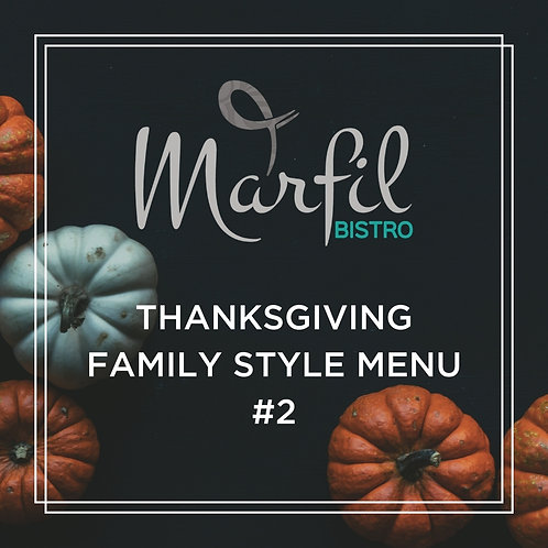 Thanksgiving Family Style Menu #2 For 10 People