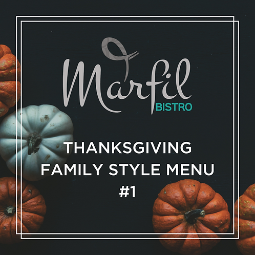 Thanksgiving Family Style Menu #1 For 10 People