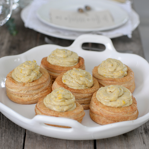 Vol au vent with creamy sweet corn (6 units)