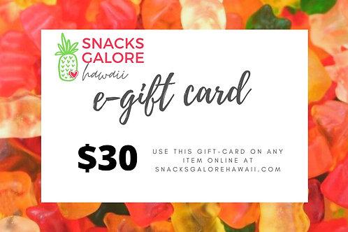 $30 E-Gift Card