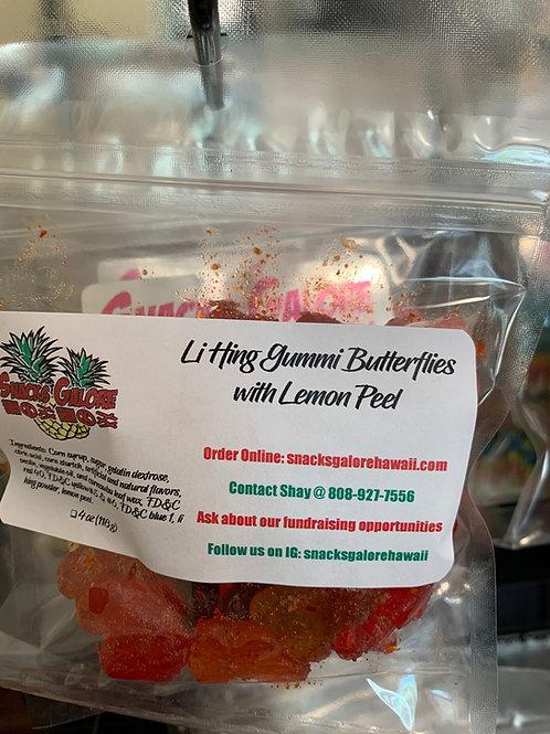 Li Hing Gummi Butterflies w/ Lemon Peel