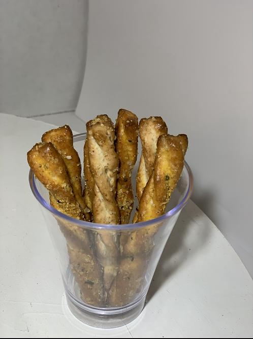 Beefy Garlic Pretzel Sticks