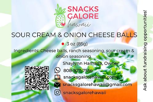 Sour Cream & Onion Cheese Balls