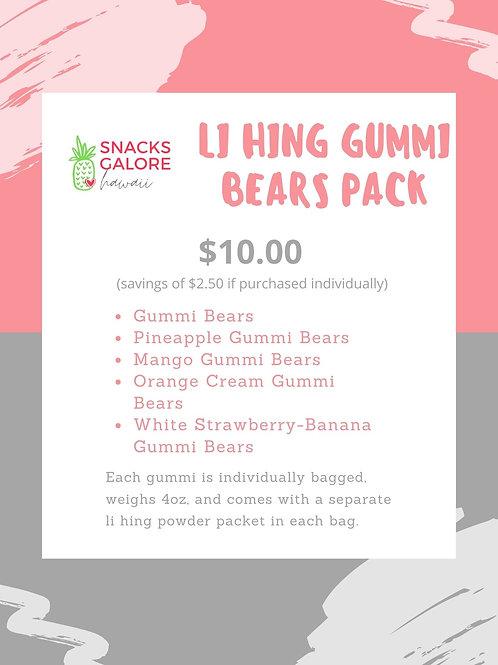 Li Hing Gummi Bears Gummi Pack