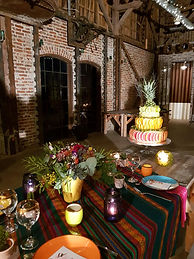 table avec wedding cake shooting cinco d