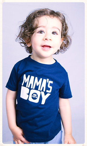 Mama's Boy Infant Tee- Navy & White