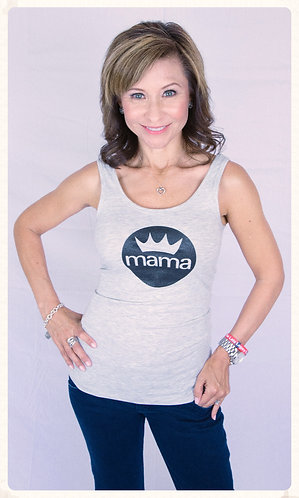 Mama B. Jersey Tank (Light Grey)