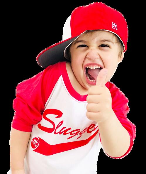 Slugger Baseball Raglan- Red