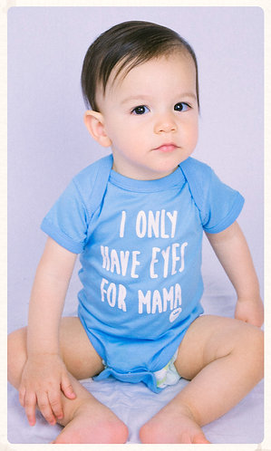Eyes for Mama Infant Onesie- Blue & White
