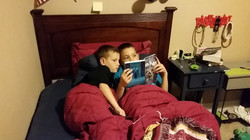 Bed time book session.
