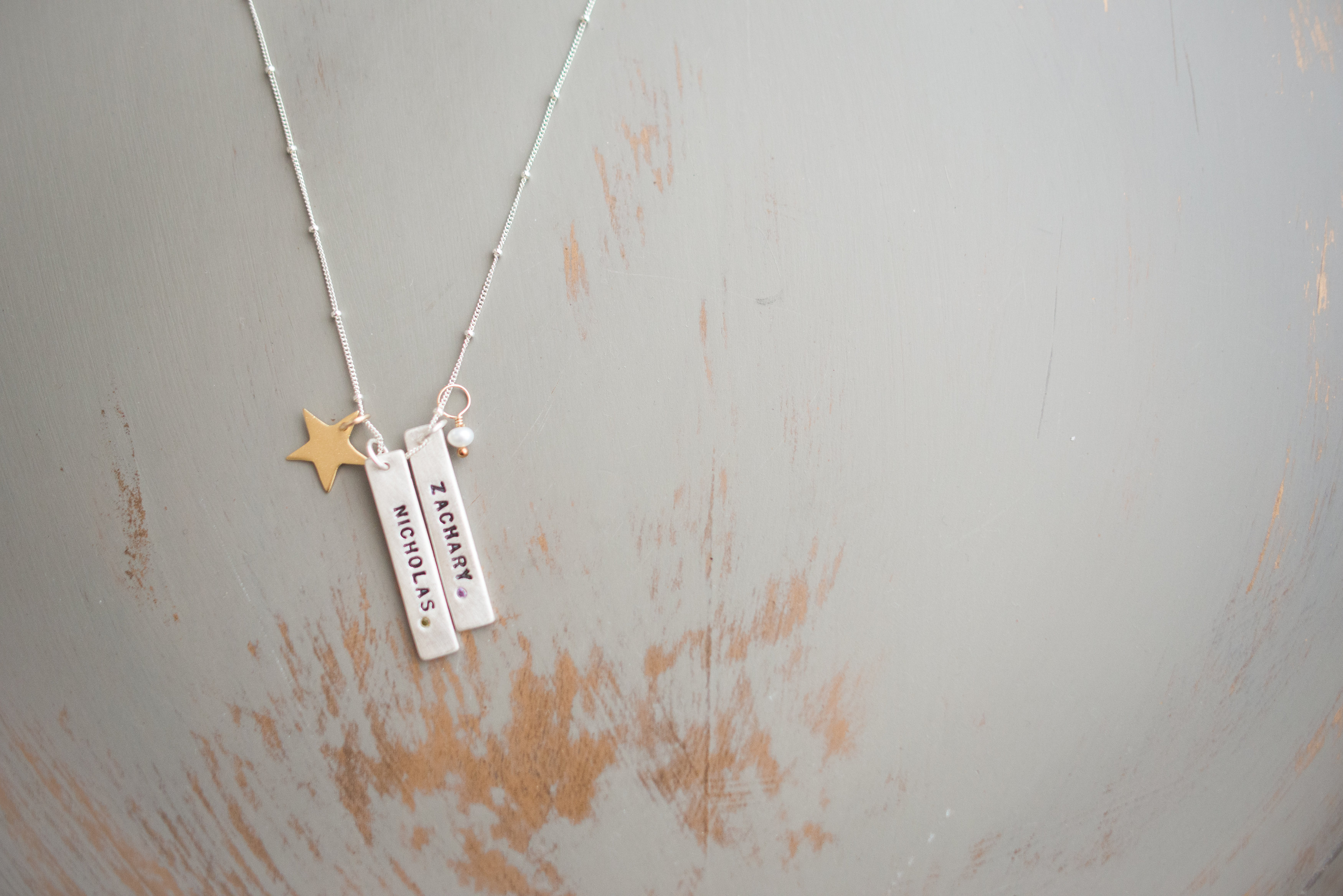 Isabelle Grace Birthstone Tag