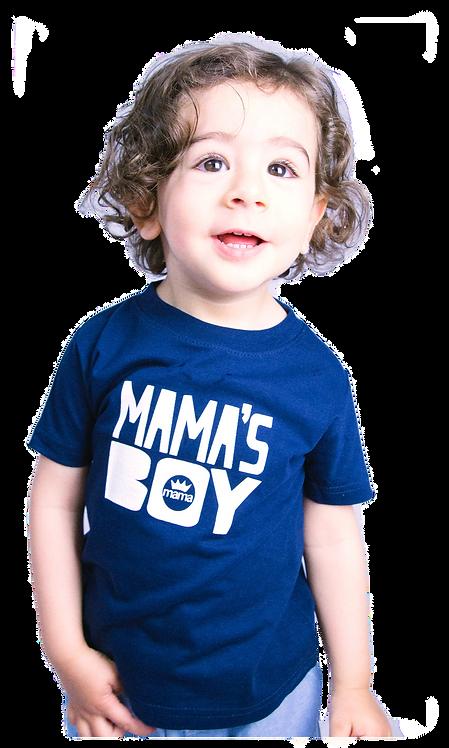 Mama's Boy Infant Tee- Navy & White