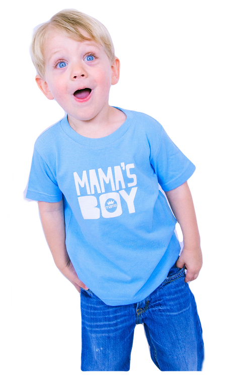 Mama's Boy Toddler Tee (Light Blue)