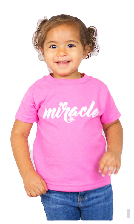 Miracle Toddler Tee (Raspberry)