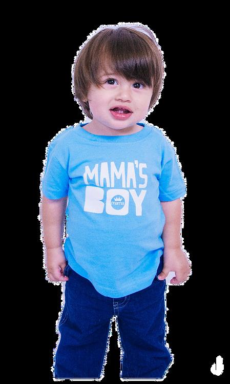 Mama's Boy Infant Tee- Blue & White