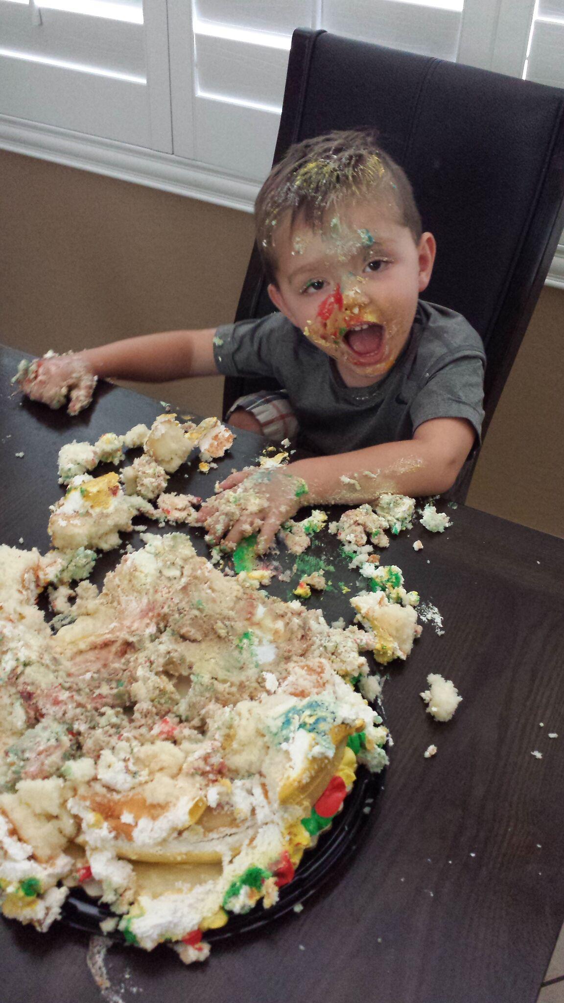 The cake smash.