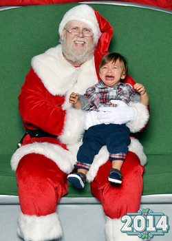 Meeting Santa didn't go so well.