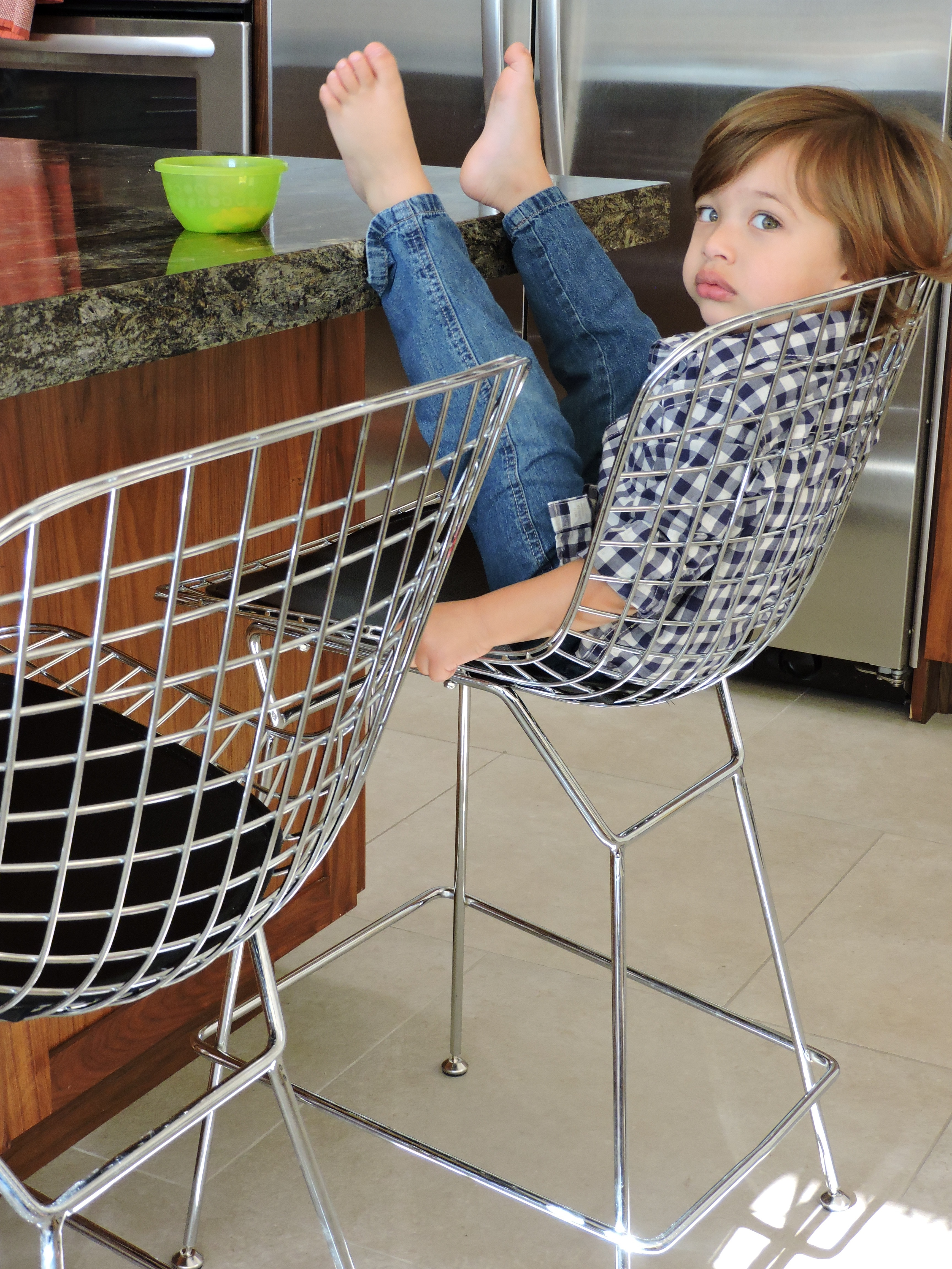 Bertoia Wire Style Counter Stools