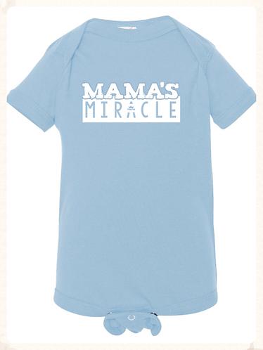 Mama's Miracle Bodysuit- Blue & White