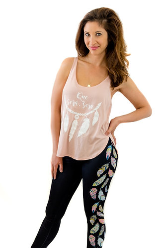 Que Sera Sera Tank + Feather Leggings