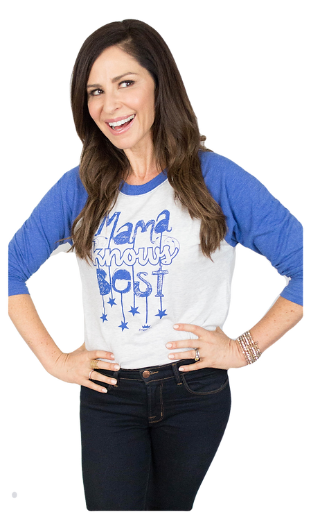 Mama Knows Best Baseball Raglan (Blue)