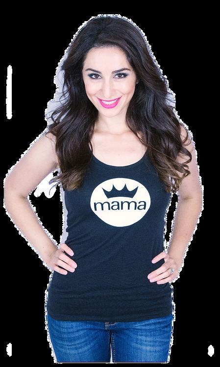 Mama B. Jersey Tank- Black & White
