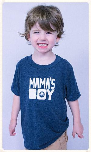 Mama's Boy Tri-Blend Tee- Navy & White