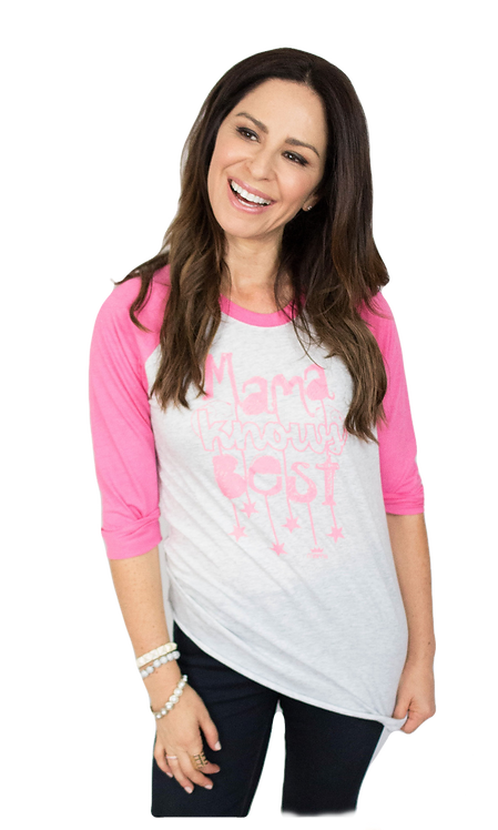 Mama Knows Best Baseball Raglan (Pink)