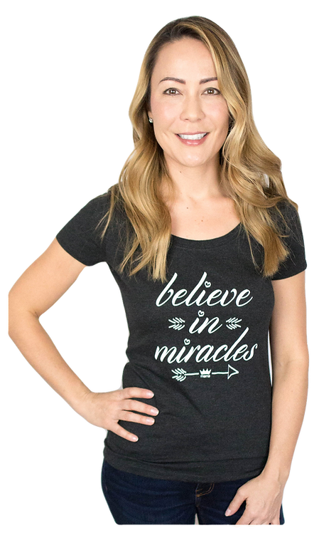 Believe Scoop Tee (Black)