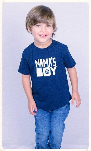 Mama's Boy Toddler Tee- Navy & White