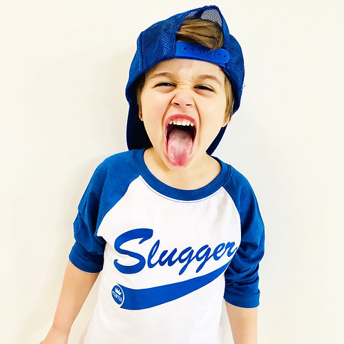 Slugger Baseball Raglan- Blue