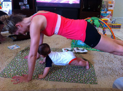 Plank before crawling.