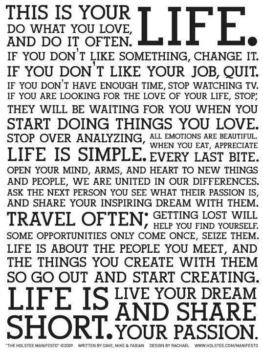 Life: Re-define. Decide. Do. Repeat.