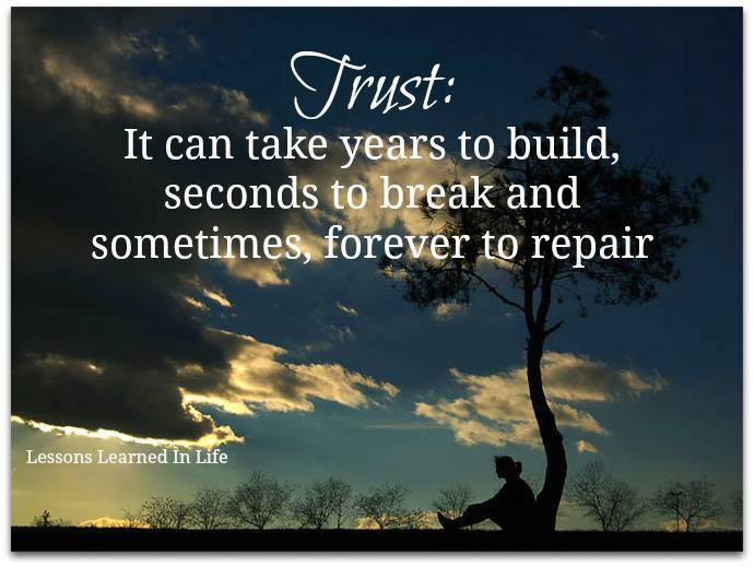 Trust is a MUST!