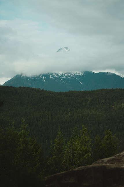 Mountain Peak-a-Boo