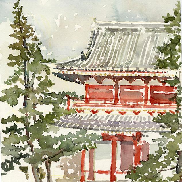 Prayer Hall, Myoshin-ji, Kyoto, Japan