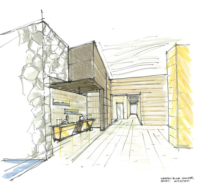 Reception counter study sketch