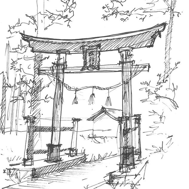 Torii Gate, Matsumoto, Japan