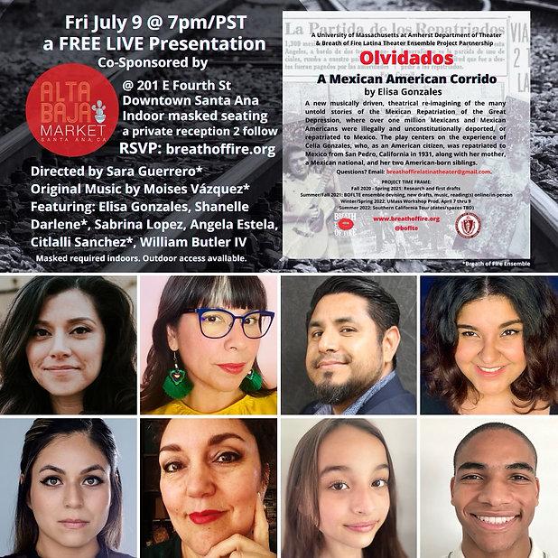 Olvidados July 9th Reading.JPG