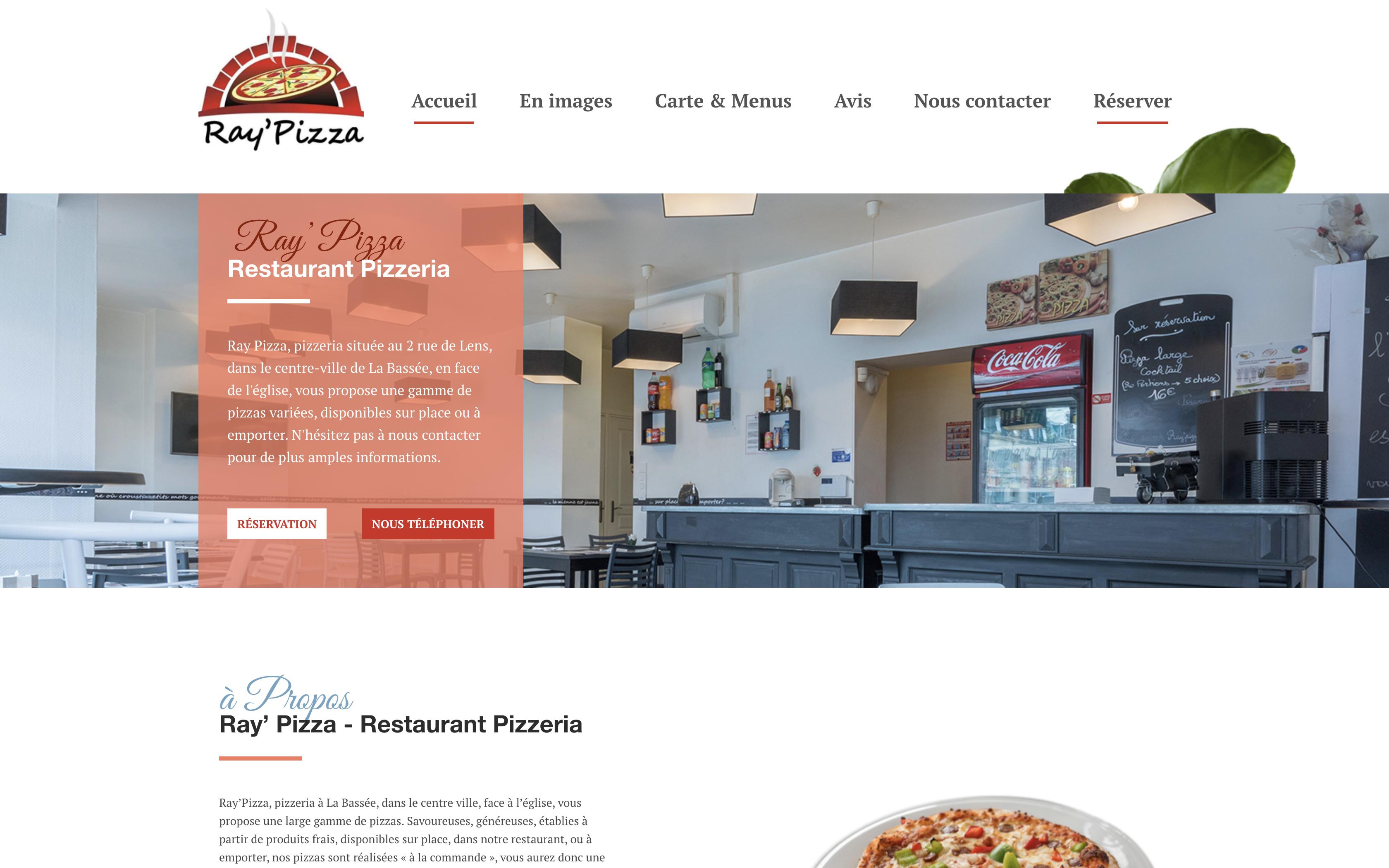 Création Site internet pour restaurant