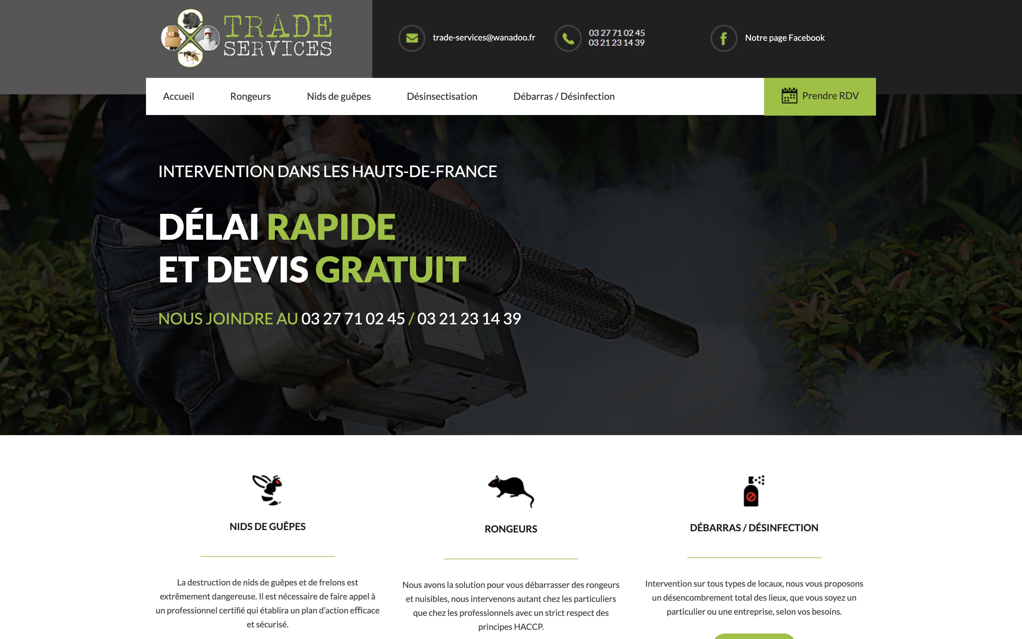 Création du site Trade Services