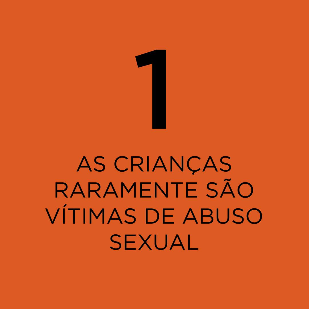 1 em cada 4 meninas e 1 em cada 13 meninos são vítimas de violência sexual até os 18 anos.