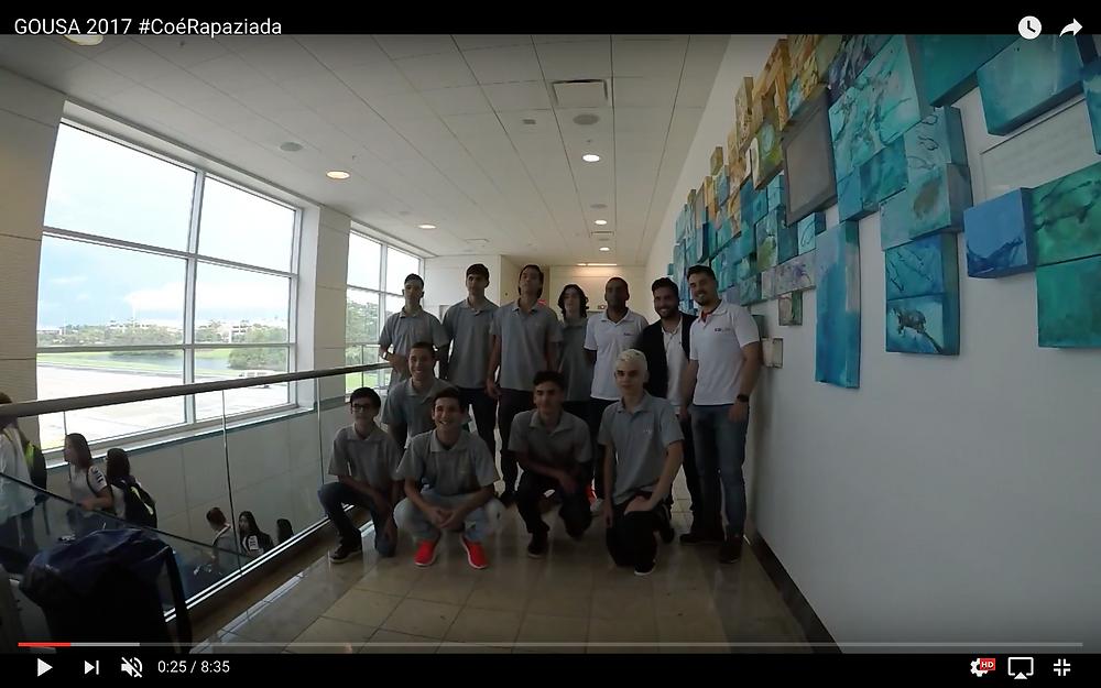 Atletas da GO USA no Aeroporto de Orlando