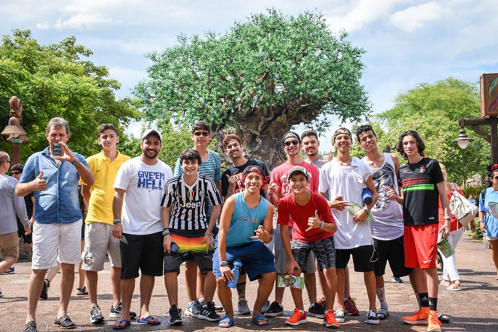 Atletas GO USA Disney Cup no Animal Kingdom