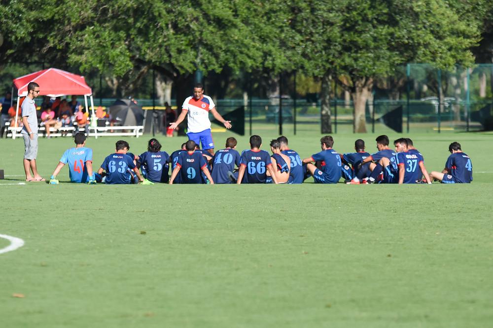 GO USA x Panamá pela Disney Cup 2017. Atletas levando bronca do treinador